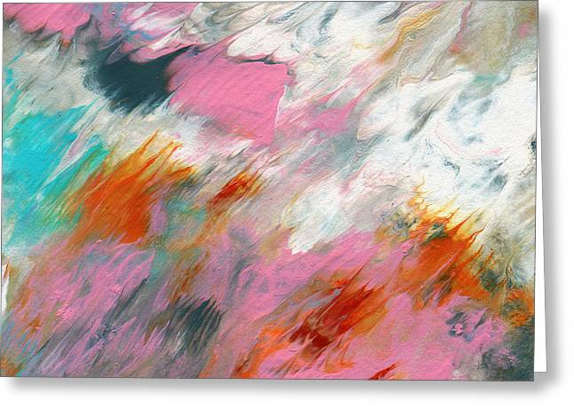 Abstract Waves Greeting Cards - Ambrosia 2- Abstract Art By Linda Woods Greeting Card by Linda Woods