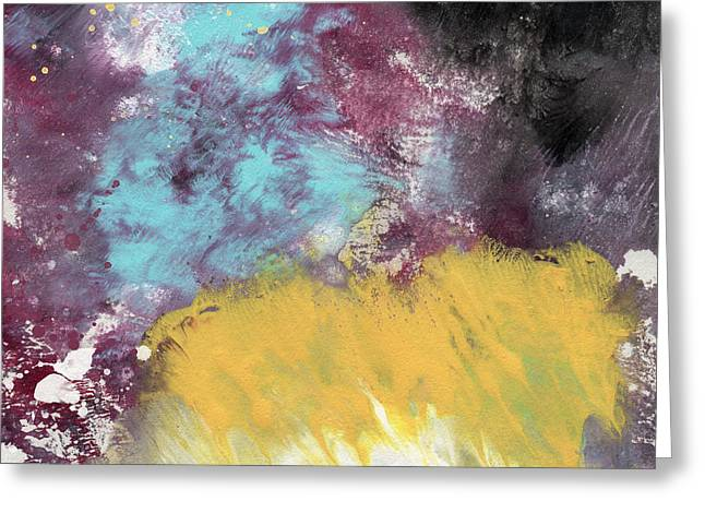 Barrel Mixed Media Greeting Cards - Ambrosia 5- Abstract Art By Linda Woods Greeting Card by Linda Woods