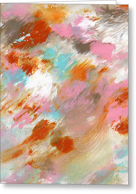 Barrel Mixed Media Greeting Cards - Ambrosia- Abstract Art By Linda Woods Greeting Card by Linda Woods