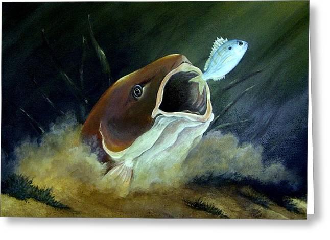 Pinfish Greeting Cards - Ambush Greeting Card by Dave Combs