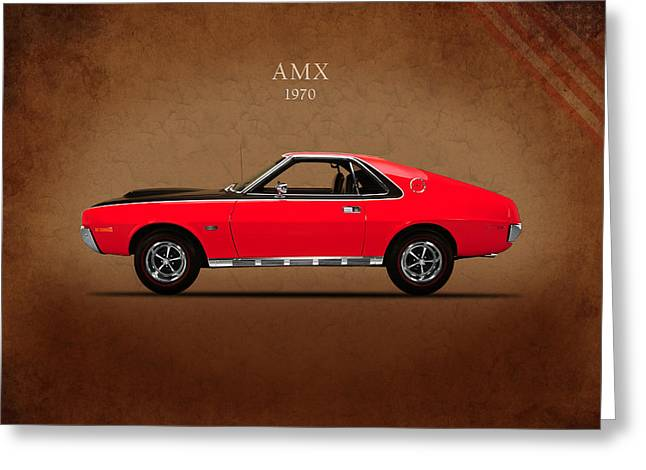 American Motors Corporation Greeting Cards - Amc Amx 1970 Greeting Card by Mark Rogan