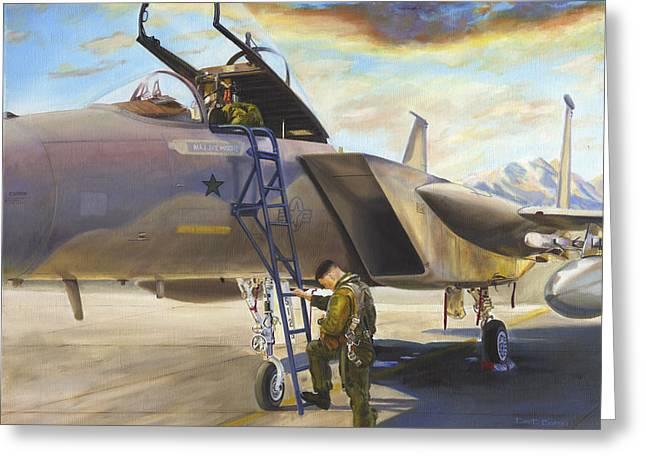 Jet Paintings Greeting Cards - Amen Greeting Card by David Gorski