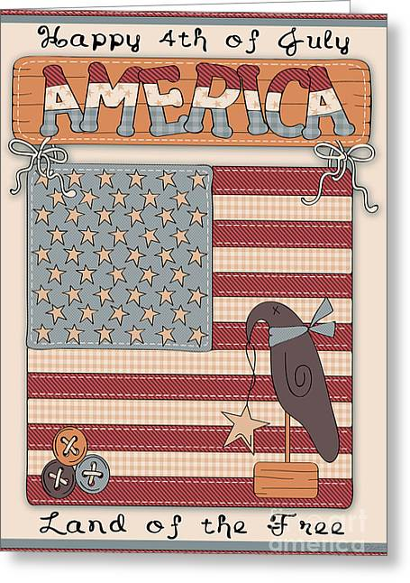 America-jp2837 Greeting Card by Jean Plout
