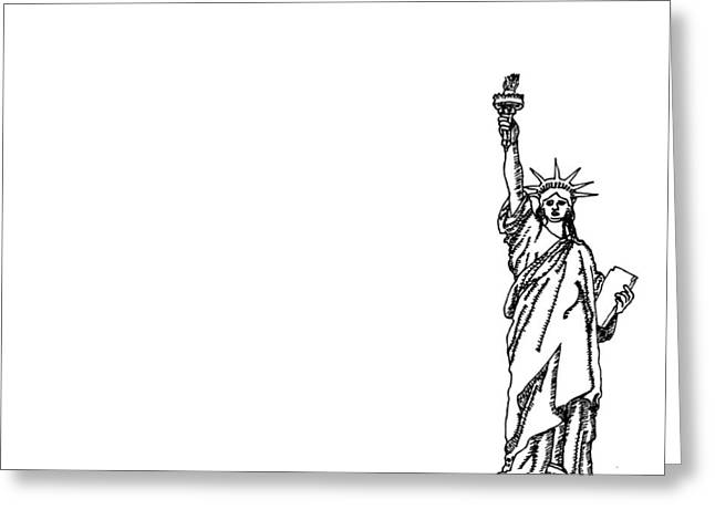 Huge Art Greeting Cards - America Greeting Card by Karl Addison
