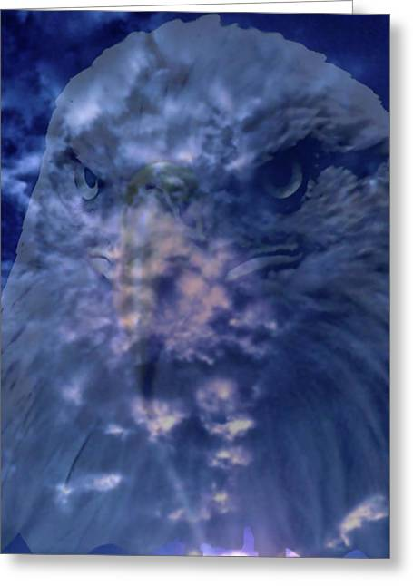 Flocks Of Birds Mixed Media Greeting Cards - America Rise Above Greeting Card by Debra     Vatalaro