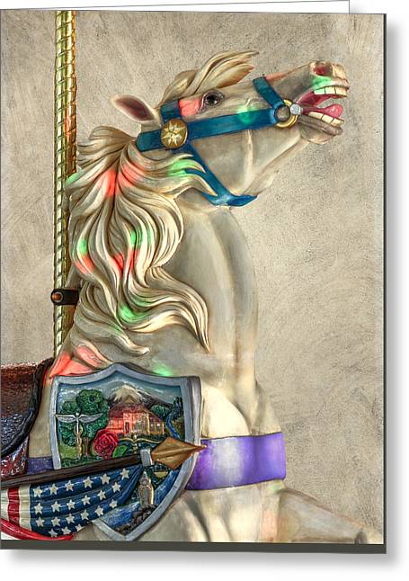 America Stallion D4242 Greeting Card by Wes and Dotty Weber
