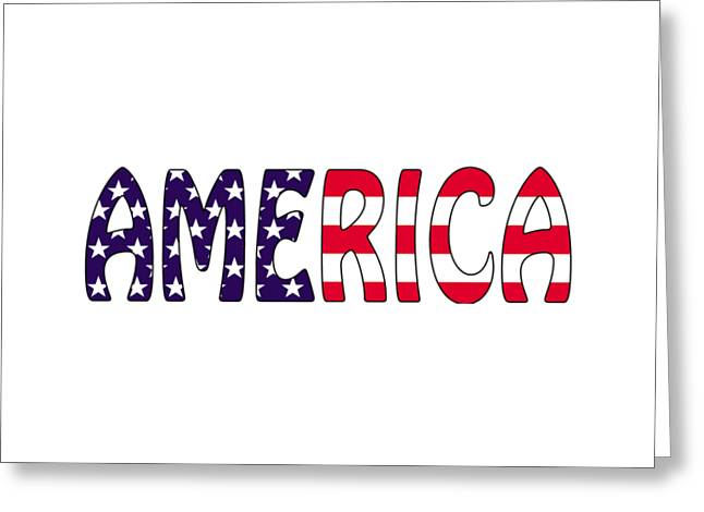 4th July Greeting Cards - America Stars and Stripes  Greeting Card by Anne Kitzman