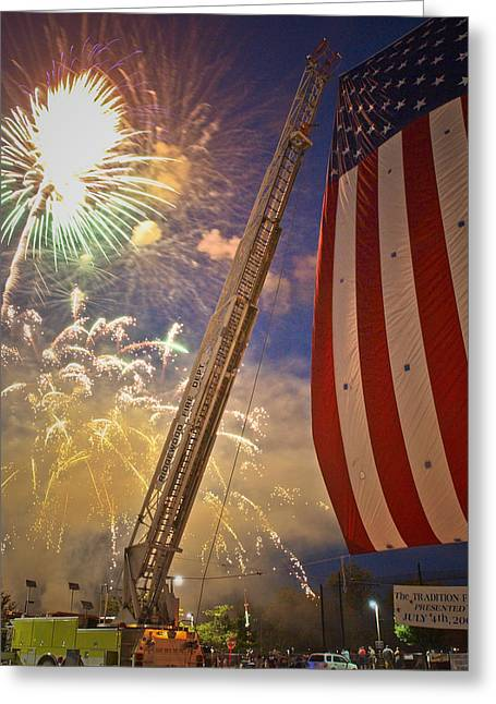 4th July Photographs Greeting Cards - America the Beautiful Greeting Card by Jim DeLillo