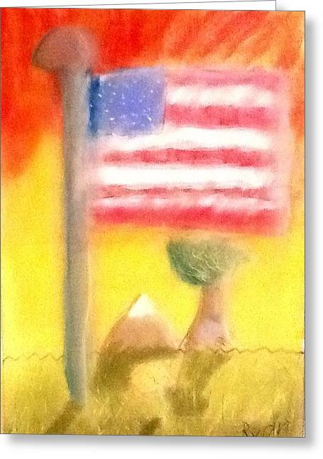 4th July Greeting Cards - America the Beautiful Greeting Card by Ryan Hilgendorf