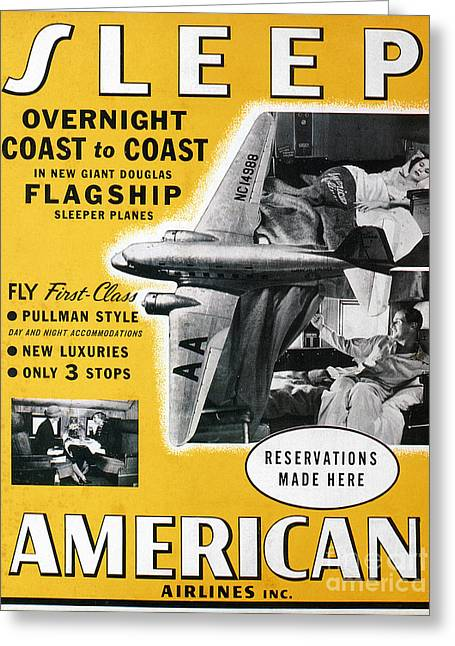 American Airlines Greeting Cards - American Airlines, 1936 Greeting Card by Granger