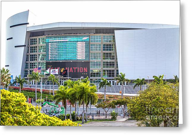 American Airlines Arena Greeting Cards - American Airlines Arena Miami Greeting Card by Rene Triay Photography