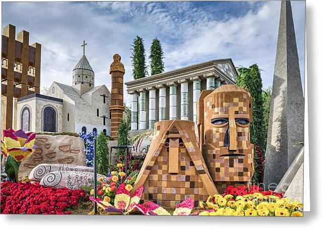 American Armenian Rose Float Greeting Card by David Zanzinger