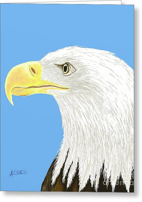 4th July Greeting Cards - American Bald Eagle Greeting Card by Stacy C Bottoms