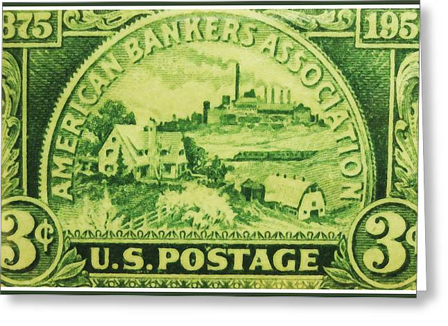 Old Greeting Cards - American Bankers Association Greeting Card by Lanjee Chee