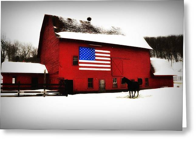 Barn Digital Greeting Cards - American Barn Greeting Card by Bill Cannon