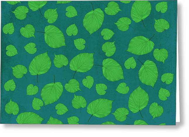American Basswood In Green Greeting Card by Emily Kay