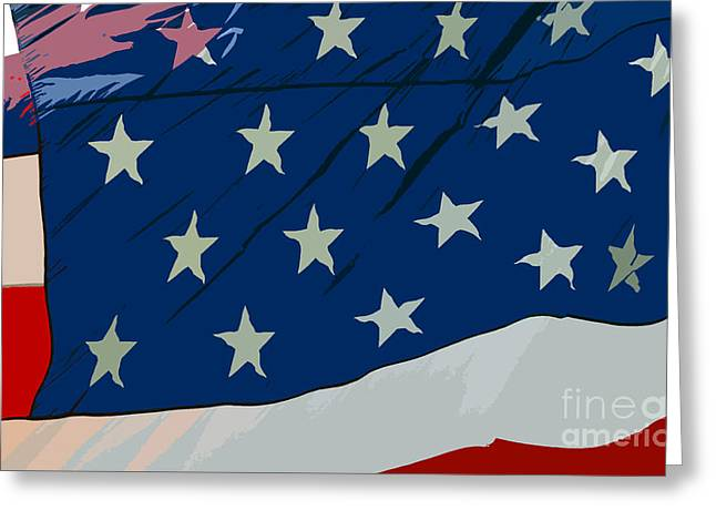 Stars And Strips Greeting Cards - American beauty Greeting Card by David Lee Thompson