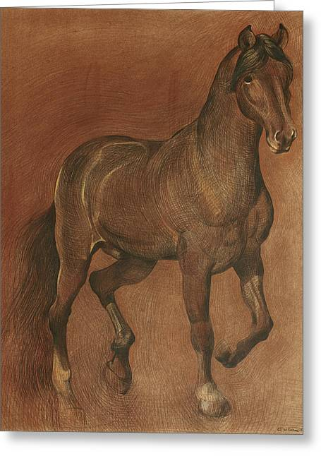 Local Art Drawings Greeting Cards - American Beauty Horse Greeting Card by Ezartesa Art
