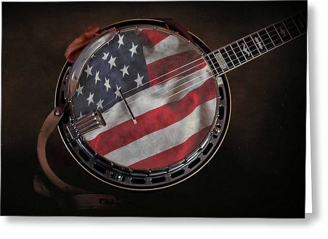 American Bluegrass Music Greeting Card by Tom Mc Nemar