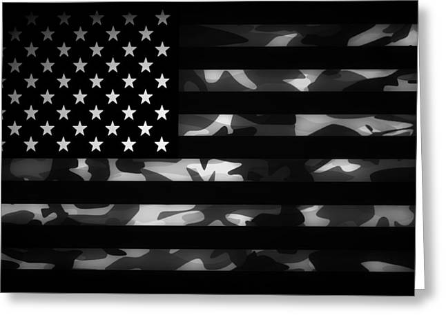 American Flags Greeting Cards - American Camouflage Greeting Card by Nicklas Gustafsson