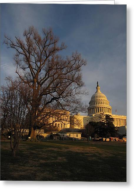 President Obama Greeting Cards - American Capitol Greeting Card by Michael French