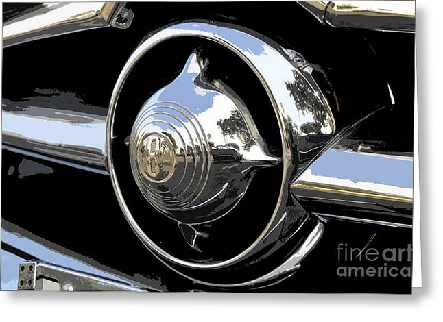 Antic Car Greeting Cards - American chrome Greeting Card by David Lee Thompson