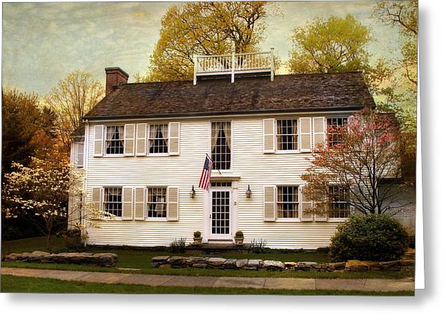 Colonial Style Greeting Cards - American Colonial Greeting Card by Jessica Jenney