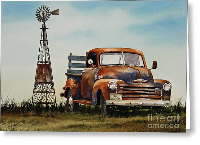 Old Trucks Greeting Cards - American Country Greeting Card by James Williamson