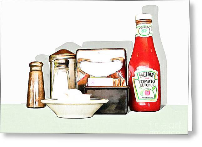 American Diner 20160221 Greeting Card by Wingsdomain Art and Photography
