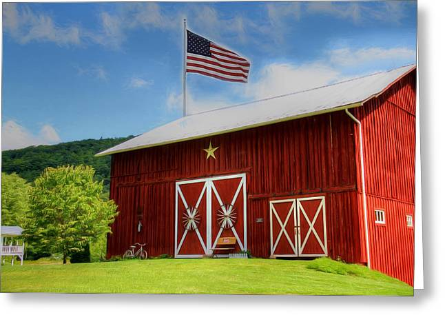 Barn Digital Greeting Cards - American Dream Greeting Card by Sharon Batdorf