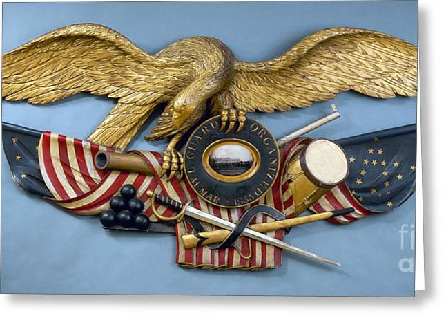 Wooden Sculpture Greeting Cards - American Eagle, 1855 Greeting Card by Granger