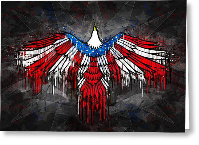 4th July Greeting Cards - American Eagle of Freedom Greeting Card by Digital Moments