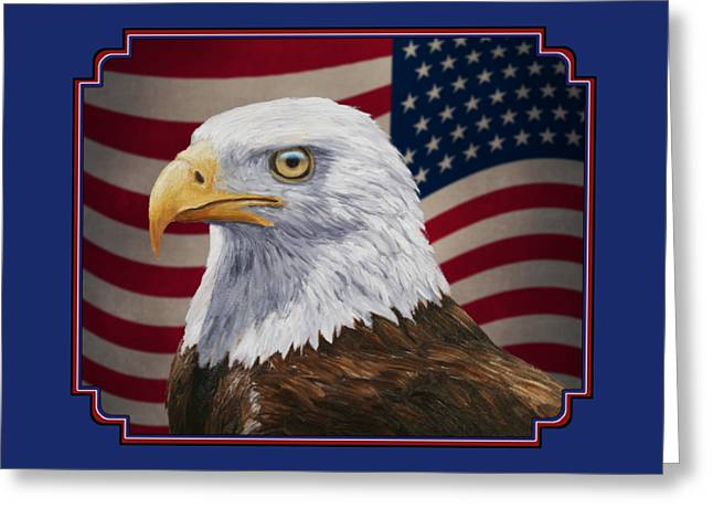 Patriotism Paintings Greeting Cards - American Eagle Phone Case Greeting Card by Crista Forest