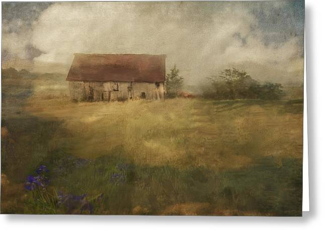 Old Barns Greeting Cards - American Farm Greeting Card by W i L L Alexander