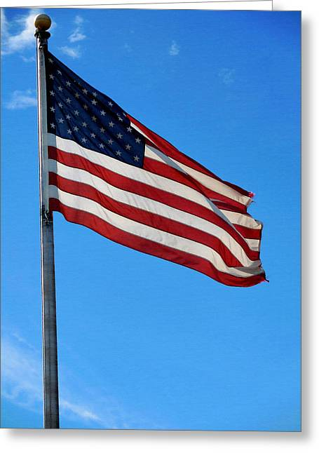 4th July Greeting Cards - American flag 2 Greeting Card by Lanjee Chee