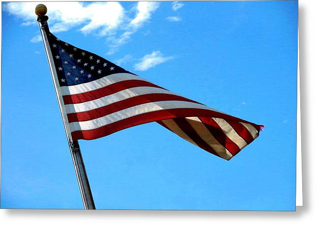 4th July Greeting Cards - American flag 3 Greeting Card by Lanjee Chee