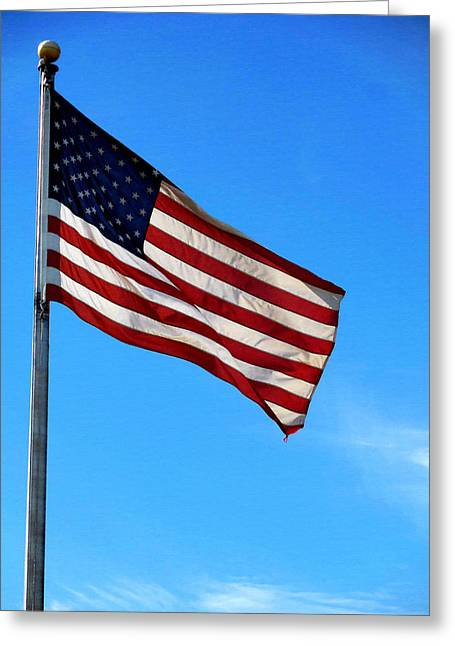 4th July Greeting Cards - American flag 4 Greeting Card by Lanjee Chee