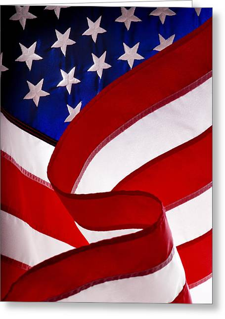 Independance Greeting Cards - American Flag Greeting Card by George Robinson