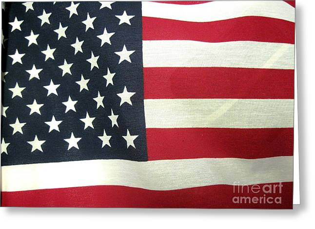 Daughter Gift Greeting Cards - American Flag Greeting Card by John Messmer