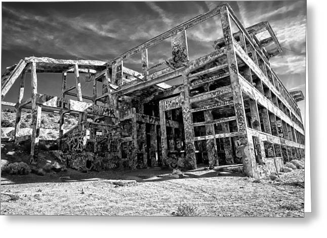 American Flat Mill Virginia City Nevada Greeting Card by Scott McGuire