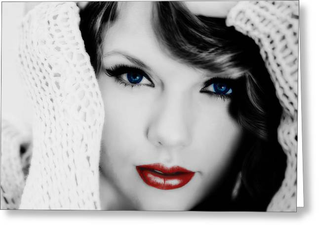 American Girl Taylor Swift Greeting Card by Brian Reaves