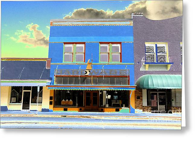 Titusville Greeting Cards - American Hardware Greeting Card by David Lee Thompson