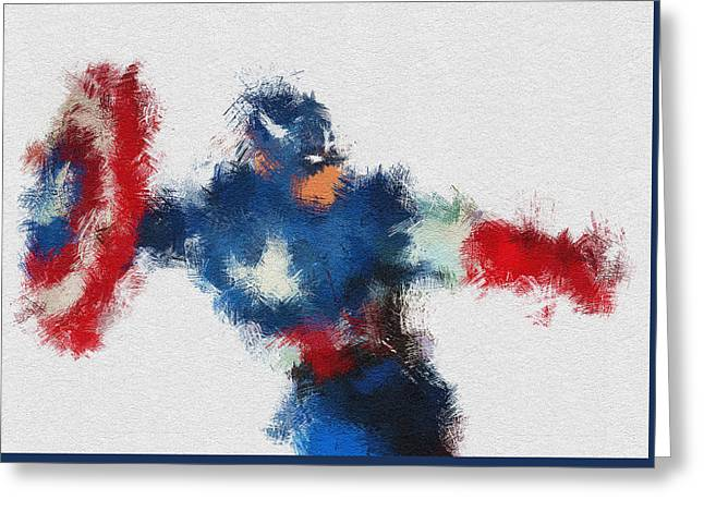 Character Portraits Greeting Cards - American Hero 2 Greeting Card by Miranda Sether