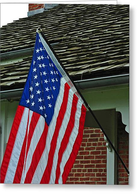Historic Home Greeting Cards - American Homestead Greeting Card by Peter  McIntosh