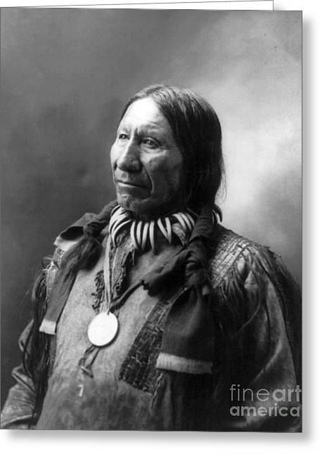 American Horse, Oglala Lakota Indian Greeting Card by Science Source