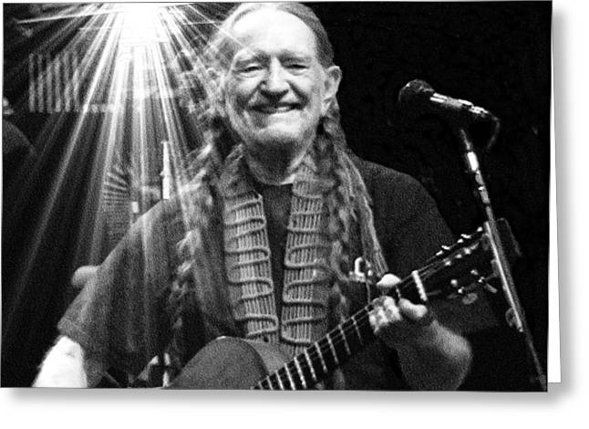 American Icon - Willie Nelson Greeting Card by David Syers