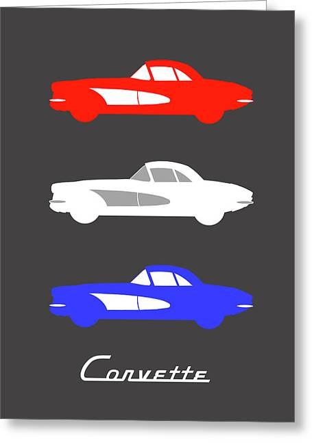 American Icon - Corvette Greeting Card by Mark Rogan
