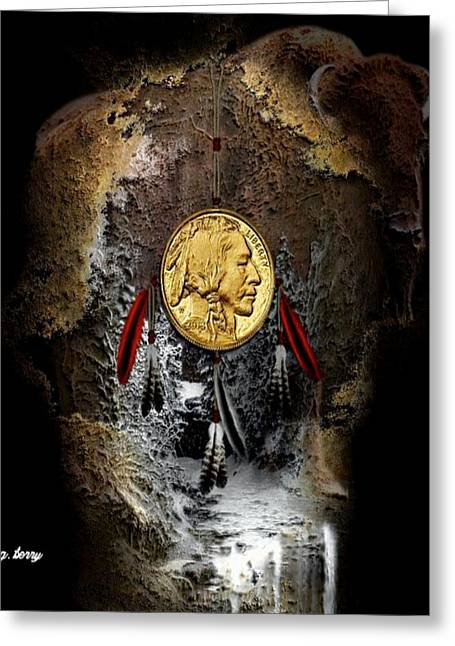 American Indian Dreamcatcher 2 Greeting Card by G Berry