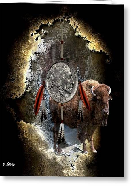 American Indian Dreamcatcher Greeting Card by G Berry