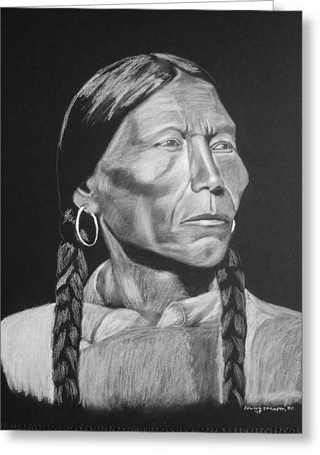 American Indian Greeting Card by Edward Stamper